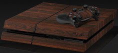 WOODEN SKIN FOR PLAYSTATION 4