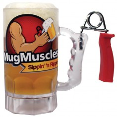 Beer Mug with Hand Grip Exerciser