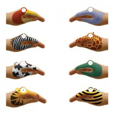 Animal Hand Temporary Tattoo