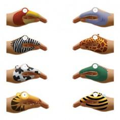 Animal Hand Temporary Tattoo