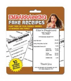 Embarrassing Fake Receipts