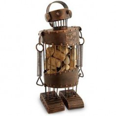 Cork Robot Ornament