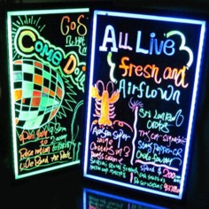 NEON LED MESSAGE WRITING BOARD