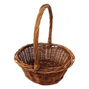 Hand-woven Wicker basket for Easter