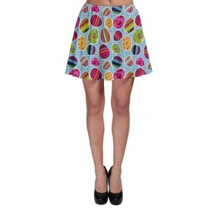 Gift her a Casual Skirt with Easter Eggs design