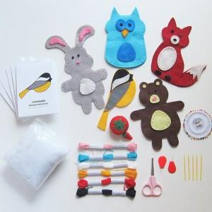 Woodland Animals Kids Sewing Kit